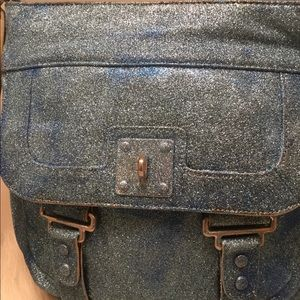 Deja Vu Designs Bags - Make Your Day Sparkle Blue Glitter Crossbody Bag